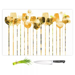 Artistic Kitchen Bar Cutting Boards | Angelina Vick - Cocktail Hour 4 Gold | Drinks wine glass simple