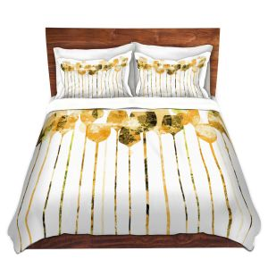 Artistic Duvet Covers and Shams Bedding | Angelina Vick - Cocktail Hour 4 Gold | Drinks wine glass simple
