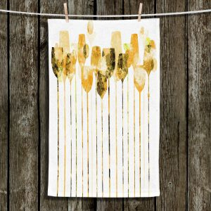 Unique Hanging Tea Towels | Angelina Vick - Cocktail Hour 4 Gold | Drinks wine glass simple