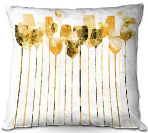 Throw Pillows Decorative Artistic | Angelina Vick - Cocktail Hour 4 Gold | Drinks wine glass simple