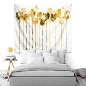 Artistic Wall Tapestry | Angelina Vick - Cocktail Hour 4 Gold | Drinks wine glass simple
