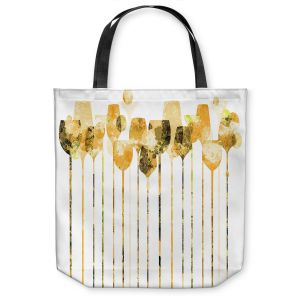 Unique Shoulder Bag Tote Bags | Angelina Vick - Cocktail Hour 4 Gold | Drinks wine glass simple