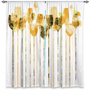 Decorative Window Treatments | Angelina Vick - Cocktail Hour 4 Gold | Drinks wine glass simple