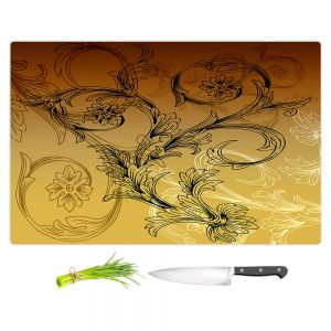 Artistic Kitchen Bar Cutting Boards | Angelina Vick - Coffee Flowers 3 Calypso | abstract flower nature pattern