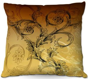 Throw Pillows Decorative Artistic | Angelina Vick - Coffee Flowers 3 Calypso | abstract flower nature pattern