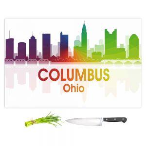 Artistic Kitchen Bar Cutting Boards | Angelina Vick - City I Columbus Ohio