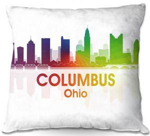 Throw Pillows Decorative Artistic   Angelina Vick - City I Columbus Ohio