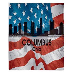 Decorative Fleece Throw Blankets | Angelina Vick - City VI Columbus Ohio
