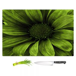 Artistic Kitchen Bar Cutting Boards | Angelina Vick - Daisy Avocado | Flower close up