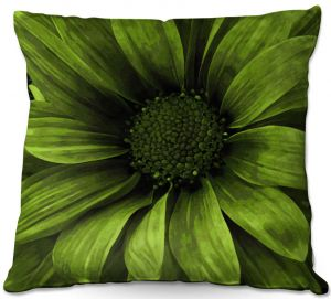 Unique Throw Pillows from DiaNoche Designs by Angelina Vick - Daisy Avocado   18X18