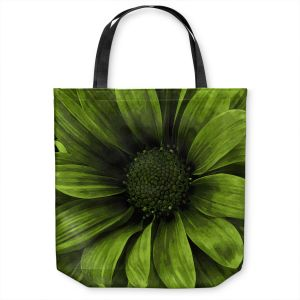 Unique Shoulder Bag Tote Bags | Angelina Vick - Daisy Avocado | Flower close up