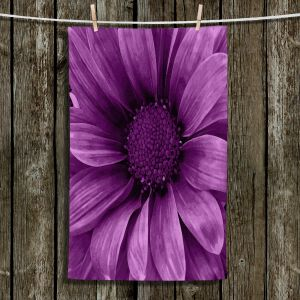 Unique Bathroom Towels | Angelina Vick - Daisy Grape | Flower close up