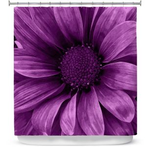 Unique Shower Curtain from DiaNoche Designs by Angelina Vick - Daisy Grape
