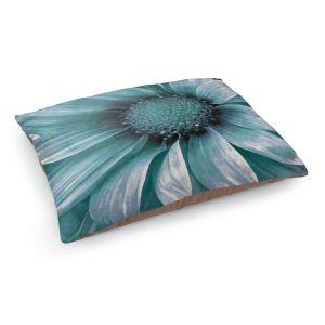 Decorative Dog Pet Beds | Angelina Vick - Daisy Mint Green | Flower close up