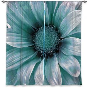 Decorative Window Treatments | Angelina Vick - Daisy Mint Green | Flower close up