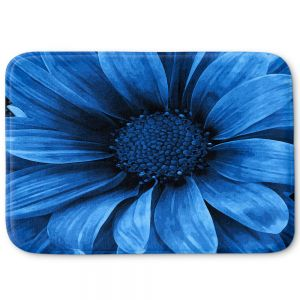 Decorative Bath Mat Small from DiaNoche Designs by Angelina Vick - Daisy Pure Blue