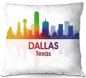 Decorative Outdoor Patio Pillow Cushion | Angelina Vick - City I Dallas Texas