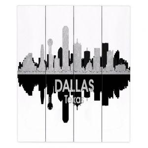 Decorative Wood Plank Wall Art  Angelina Vick - City IV Dallas Texas