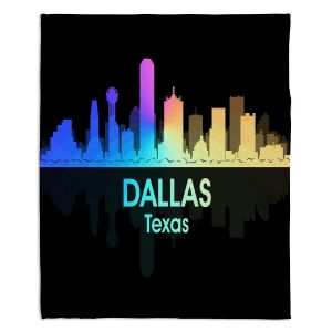 Decorative Fleece Throw Blankets | Angelina Vick - City V Dallas Texas