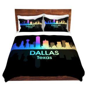 Artistic Duvet Covers and Shams Bedding   Angelina Vick - City V Dallas Texas