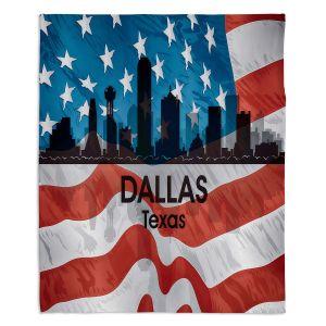 Decorative Fleece Throw Blankets | Angelina Vick - City VI Dallas Texas