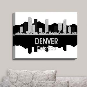 Decorative Canvas Wall Art   Angelina Vick - City IV Denver Colorado   City Skyline Mirror Image