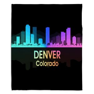 Decorative Fleece Throw Blankets | Angelina Vick - City V Denver Colorado