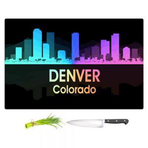 Artistic Kitchen Bar Cutting Boards | Angelina Vick - City V Denver Colorado