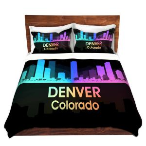 Artistic Duvet Covers and Shams Bedding | Angelina Vick - City V Denver Colorado
