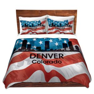 Artistic Duvet Covers and Shams Bedding | Angelina Vick - City VI Denver Colorado