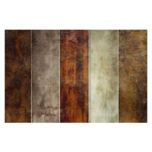 Decorative Floor Covering Mats | Angelina Vick - Earth | Stripes simple