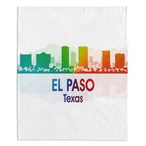 Artistic Sherpa Pile Blankets | Angelina Vick - City I El Paso Texas