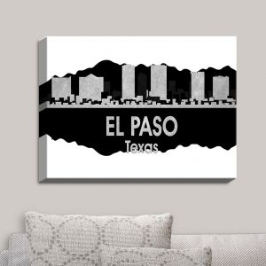 Decorative Canvas Wall Art | Angelina Vick - City IV El Paso Texas | City Skyline Mirror Image