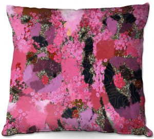 Decorative Outdoor Patio Pillow Cushion   Angelina Vick - Estrogen 1   abstract floral pattern