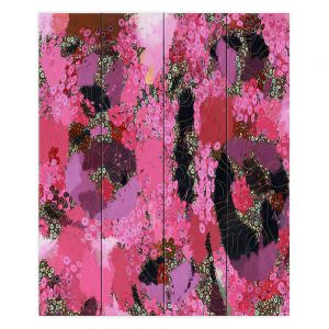 Decorative Wood Plank Wall Art   Angelina Vick - Estrogen 1   abstract floral pattern