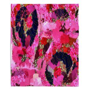 Decorative Fleece Throw Blankets | Angelina Vick - Estrogen 2 | abstract floral pattern