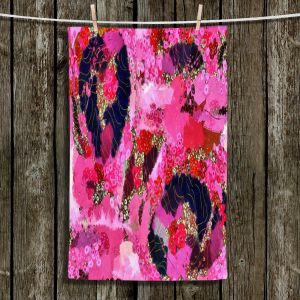 Unique Bathroom Towels | Angelina Vick - Estrogen 2 | abstract floral pattern