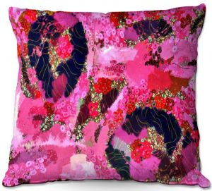 Decorative Outdoor Patio Pillow Cushion   Angelina Vick - Estrogen 2   abstract floral pattern