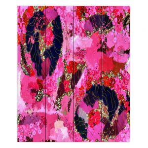 Decorative Wood Plank Wall Art   Angelina Vick - Estrogen 2   abstract floral pattern