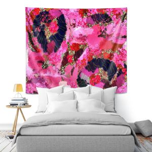 Artistic Wall Tapestry | Angelina Vick - Estrogen 2 | abstract floral pattern
