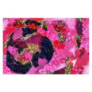 Decorative Floor Covering Mats | Angelina Vick - Estrogen 3 | abstract floral pattern