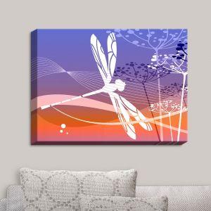 Decorative Canvas Wall Art | Angelina Vick - Flight Pattern I Dragonfly