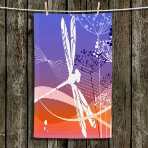 Unique Hanging Tea Towels | Angelina Vick - Flight Pattern I Dragonfly | Nature Bugs Dragonfly Childlike
