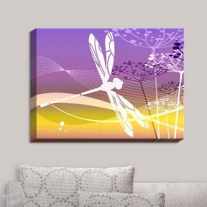 Decorative Canvas Wall Art | Angelina Vick - Flight Pattern II Dragonfly