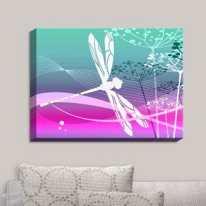 Decorative Canvas Wall Art | Angelina Vick - Flight Pattern III Dragonfly