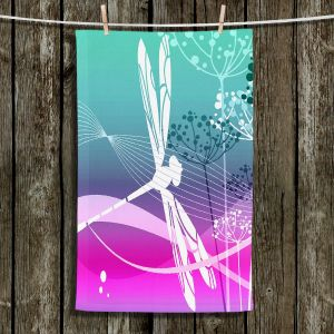 Unique Hanging Tea Towels | Angelina Vick - Flight Pattern III Dragonfly | Nature Bugs Dragonfly Childlike