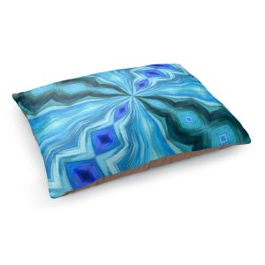 Decorative Dog Pet Beds | Angelina Vick - Float Abstract 1 | abstract pattern circular symmetry