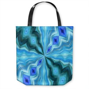 Unique Shoulder Bag Tote Bags | Angelina Vick - Float Abstract 1 | abstract pattern circular symmetry