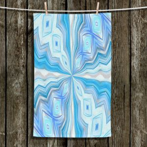 Unique Hanging Tea Towels | Angelina Vick - Float Abstract 2 | abstract pattern circular symmetry