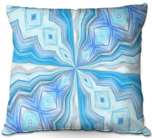 Throw Pillows Decorative Artistic | Angelina Vick - Float Abstract 2 | abstract pattern circular symmetry
